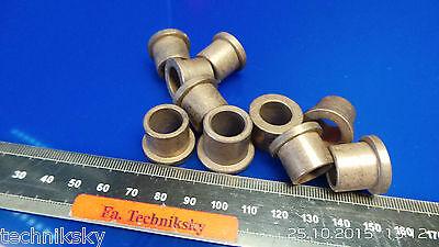 10 St. Gleitlager / Drehlager Linearlager für 8 mm Wellen Bund 16 mm