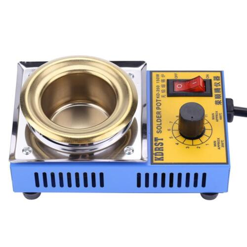 110V//220V 150W Lead-free Solder Pot Soldering Desoldering Bath 50mm 200-450℃ New