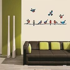 Asmi Collections Wall Stickers Beautiful Colorful Birds on a Tree Branch