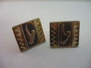 Tribal-Bird-Design-Vintage-Mens-Cufflinks-Jewelry