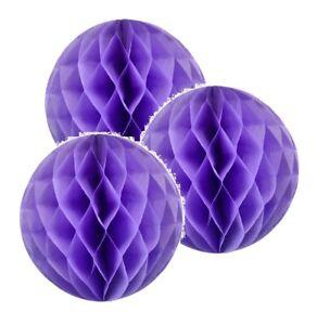 "3x Light Yellow 8/"" HoneyComb Round Tissue Paper Lantern Balls Pom Poms Wedding"