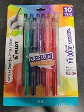 New Listingnew 10 Pcs Pilot Frixion Colorsticks Erasable Gel Ink Pens Assorted 07 Mm