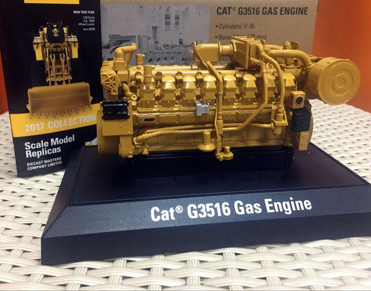 Caterpillar CAT G3516 moteur à gaz 1 25 métal modèle par Diecast Masters DM85238