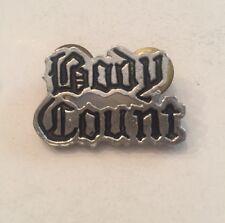 VTG Body Count Pin Badge Poker Ice T Rock Metal Tour Original 90's Rare