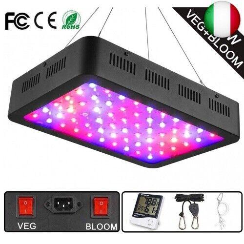 WAKYME 600W LED Lampada da Coltivazione Luce per Piante a Doppio Interruttore