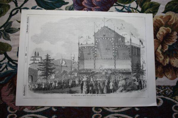 100% Wahr 1853 Stich 78 / Sängerfest In Passau