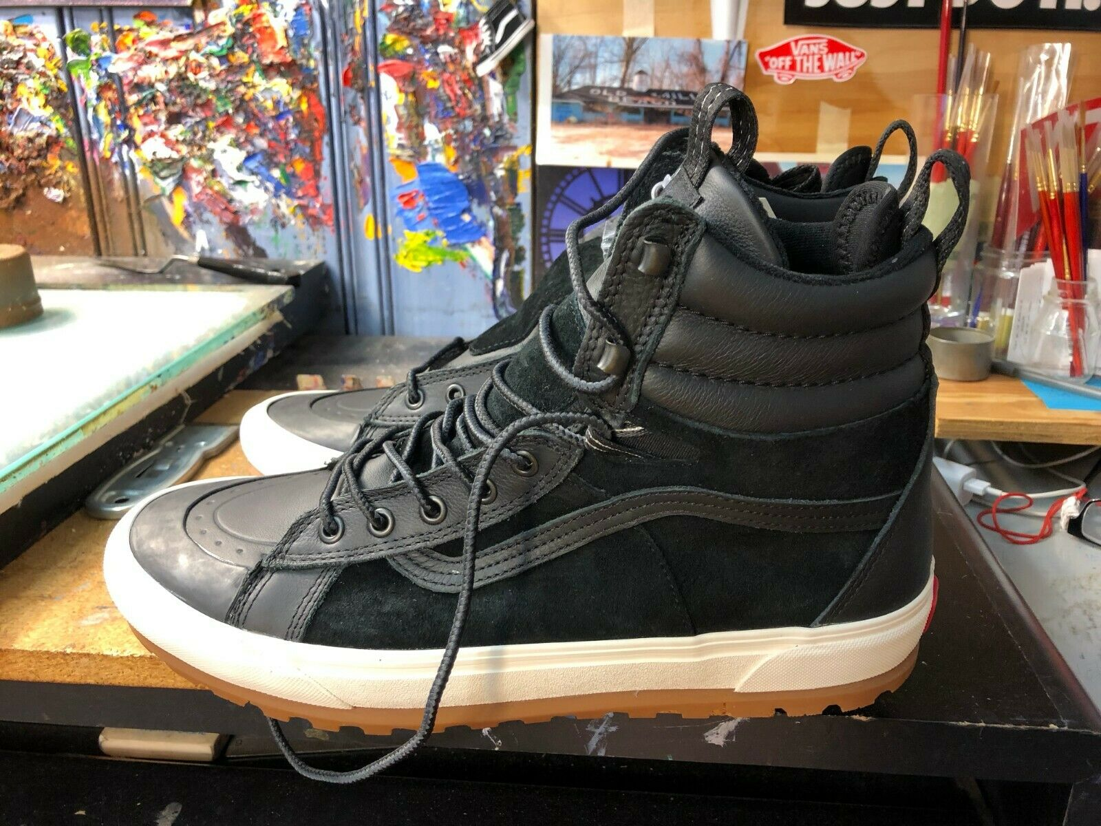Vans Sk8-Hi Boot MTE DX  Black Marshmallow Size US 10.5 Men's VN0A3ZCFI28 New