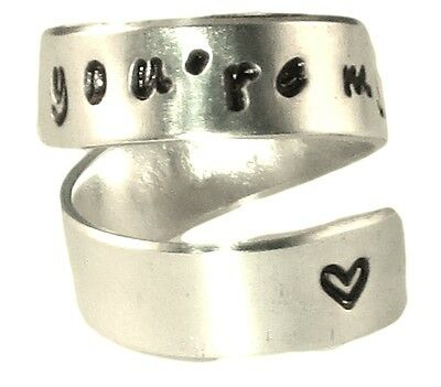 Celtic Theme Friendship Aluminum Ring Soul Friends Ring Anam Cara Wrap Custom Ring