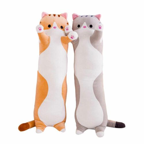Long Cute Cat Doll Plush Toy Soft Stuffed Sleeping Pillow Large Kitten Comfort