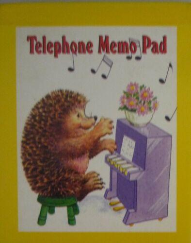 Seal, Fox, Kitten, Roses, Hedgehog Retro Telephone Memo Message Pad