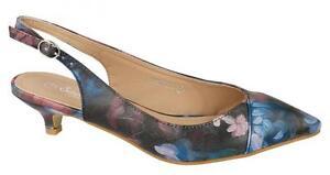Ladies Savannah Kitten Heel Slingback Shoes