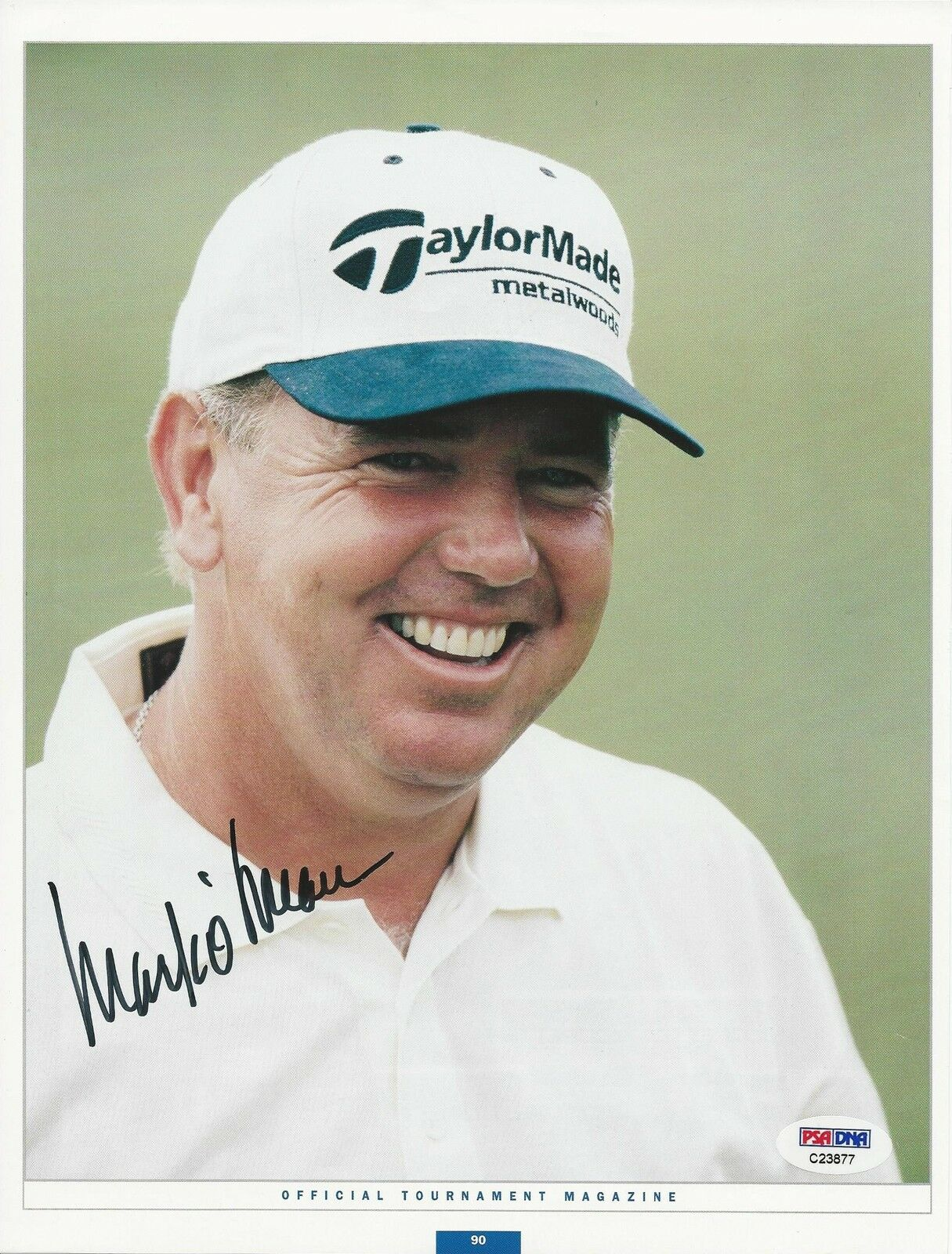 Mark O'Meara PGA Golf signed 8x10 photo PSA/DNA #C23877