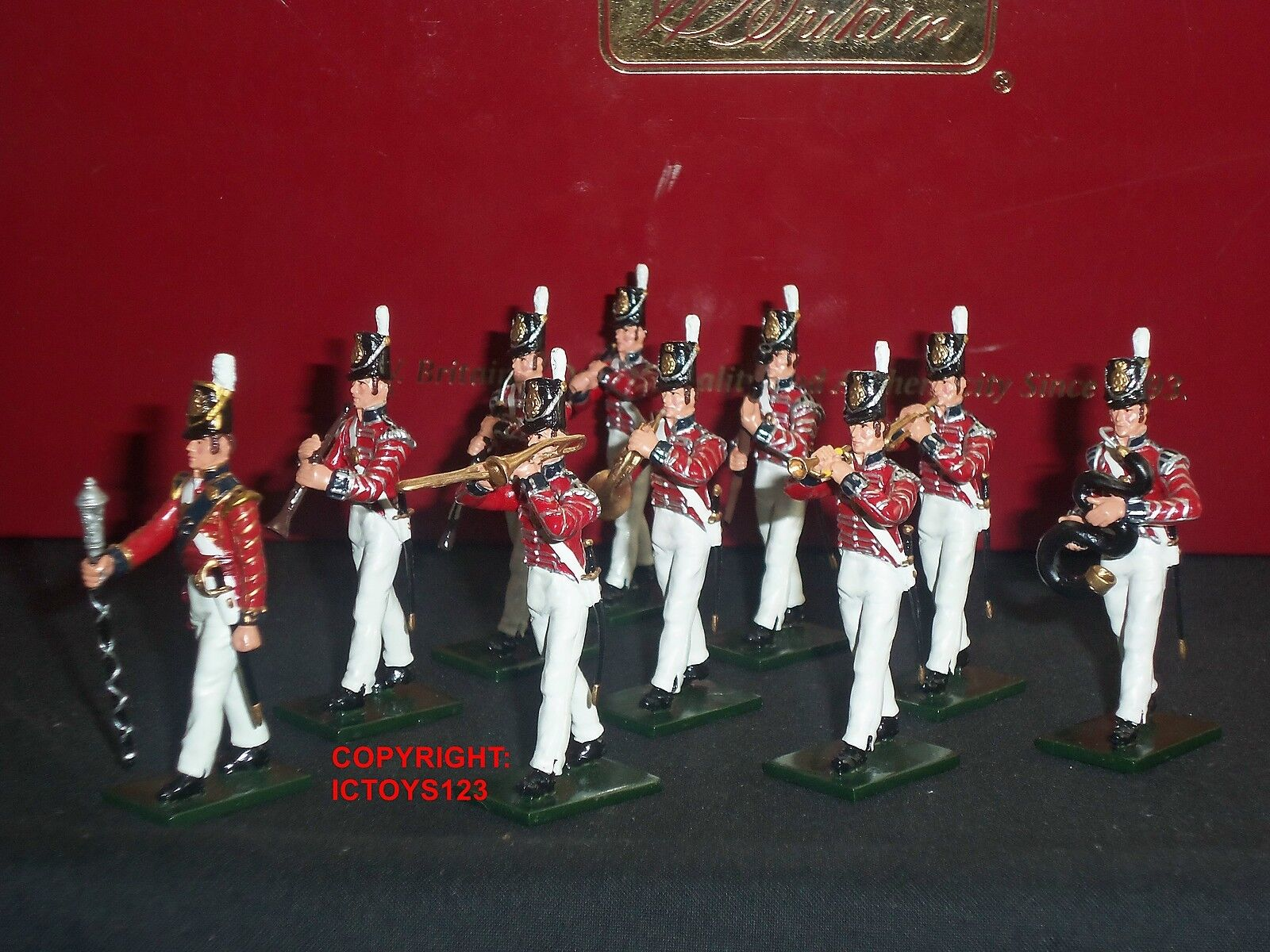 BRITAINS 43103 NAPOLEONIC WAR COLDSTREAM GUARDS BAND METAL TOY SOLDIER SET