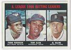 1967 Topps AL Batting Leaders (Frank Robinson, T Oliva, Al Kaline) (#239) - NM