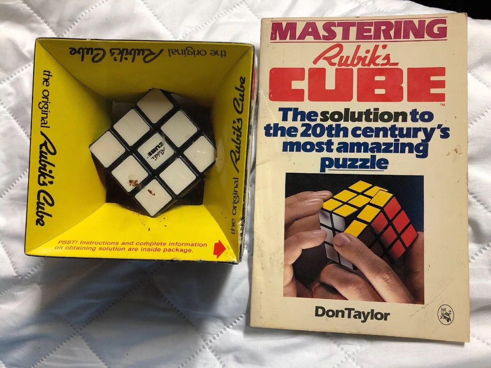 Vintage 1980 ORIGINAL The ORIGINAL 1980 RUBIK'S CUBE with Book e36e49