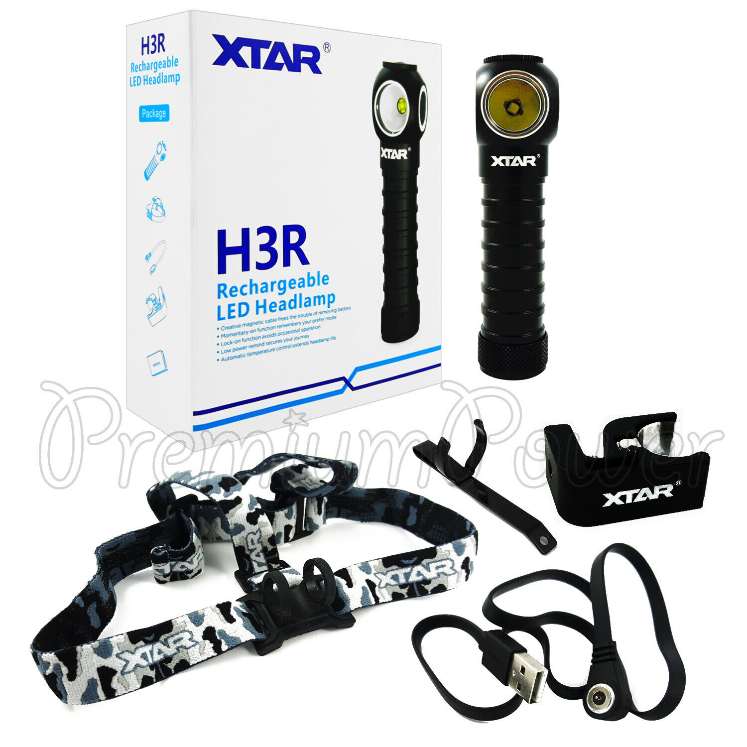XTAR H3R Rechargeable LED Headlamp max 1000 lm Magnetic Headlight CREEXPL V6