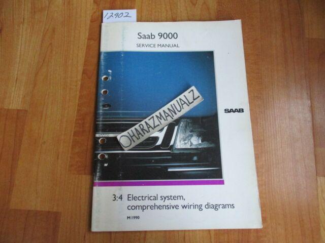 1990 Saab 9000 Electrical System Comprehensive Wiring