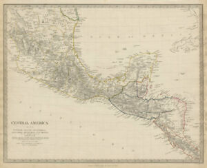 Details about SOUTHERN MEXICO & CENTRAL AMERICA. Yucatan Belize Mosquito  Coast SDUK 1844 map