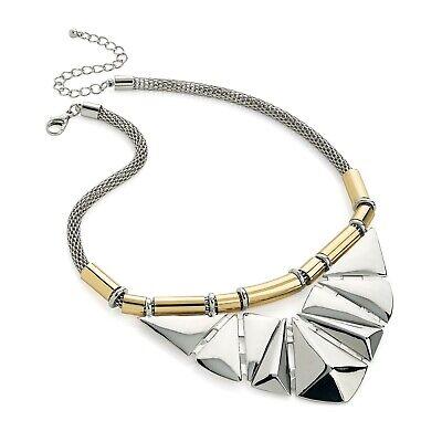Statement Schmuck Art Déco Stil Design Zweifarbig Gold & Silber Halsband | eBay