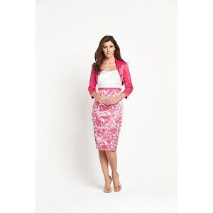 Bnwt Berkertex Coral Imprimé Rose Robe & Veste Taille 16 Mère Mariée Marié-afficher Le Titre D'origine Les Consommateurs D'Abord