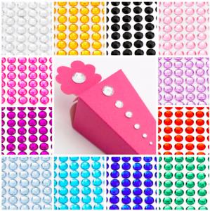 Crystal Multi Colour Flat Back Acrylic Rhinestones Gems Diamante 5mm for Craft
