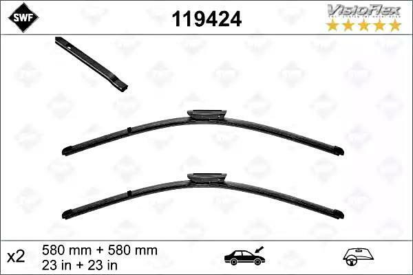 "Wiper Blades 23/"" 23/"" For Saab 95 YS3E 1.9 TiD"