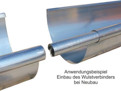 Zink Rinnenverbinder Dachrinnenverbinder Dachrinne Größe 6-tlg.//333