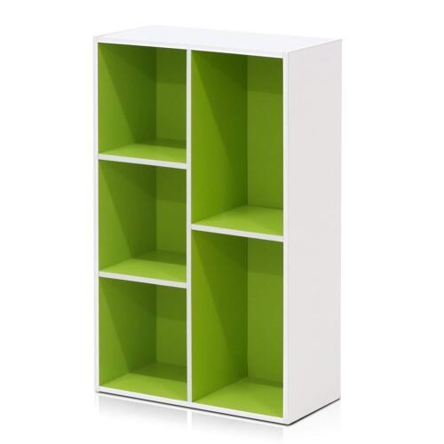 Book Shelf Open Bookcase Shelves Stylish Modern Design Large White Board 5 Cube