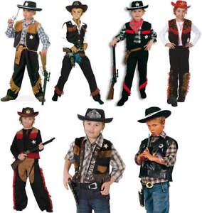 Cowboy-Cowboyweste-Weste-Kinder-Karneval-Fasching-Kostuem-104-152