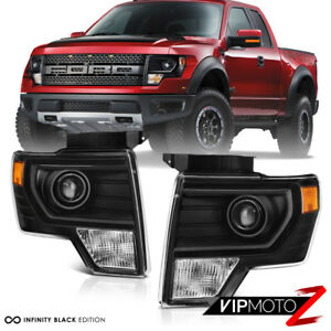 2014 F150 Headlights >> Details About Factory Projector Style 2009 2014 Ford F150 Black Projector Headlights Pair