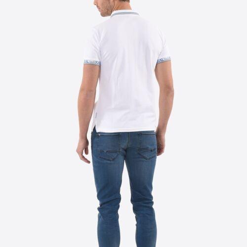 Polo Kaporal manches courtes homme SAIKO WHITE