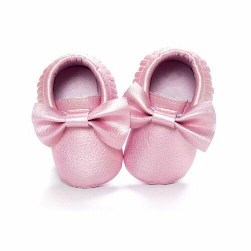 Kids Toddler Pram Shoes Soft Soles Crib Moccasin Infant Boy Girls Shoe Prewalker