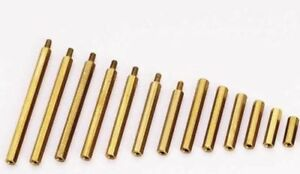 Brass-M2-M3-Hex-Column-Standoff-Support-Spacer-Screw-Nut-PCB-Board-25-50-100pcs