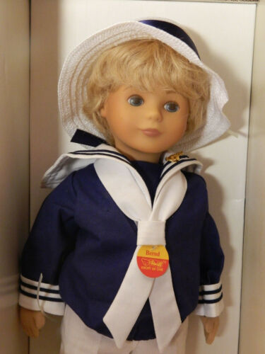 1987 9210/42 42 cm Stoffpuppe Nr Steiff Puppe Bernd