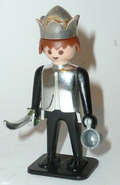 Old Playmobil Klicky Figurine Knight King Playmobilfigur B Foot 1974