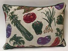 Vegetable Tapestry throw pillow garden Spring summer harvest carrot corn green