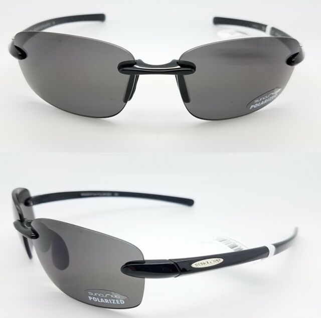 bfcba66a0b NEW Suncloud sunglasses Momentum Black Grey Polarized Unisex Medium fit  rimless