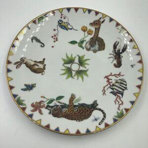 Lynn Chase HARMONY Porcelain Gold-Trimmed Salad or Dessert Plate 1998