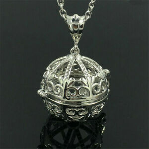 Silver Locket Necklace Aromatherapy Fragrance Essential Diffuser Pendant PB