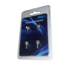 Pack of 4 Desktop PC Thumbscrews with Chrome FInish #6-32, Buy 2 Get 1 Free!