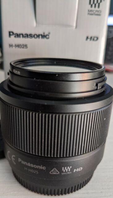 Panasonic H-H025 Lumix G Lens 25mm F1.7 ASPH M 4/3. Free Accessories.