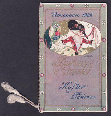 CALENDARIETTO KOFLER - PADOVA 1922 Profumi e sorrisi Ill. CAVAZZONI calendar