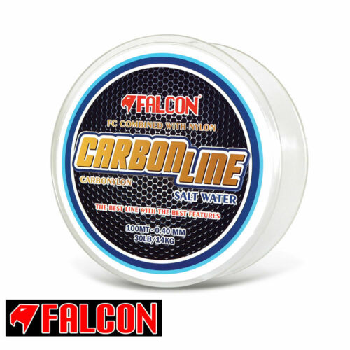 FLUOROCARBON NEWWW MONOFILO PESCA DRIFTING TRAINA FALCON CARBONLINE NYLON