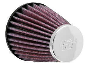 New-K-amp-N-Unversal-Chrome-AIR-POD-FILTER-3-5-inch-Flange-x-4-inch