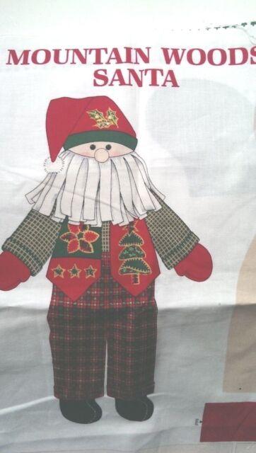 VIP Cranston Mountain Woods Santa Doll Fabric Panel 58 x 35 Inches Cotton