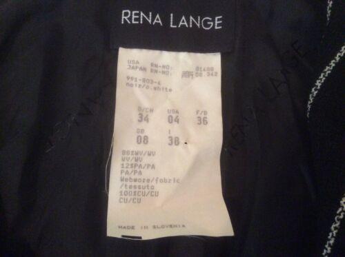 34 4 Lange Eu bianca Giacca Designer Blk Euc Us Wool Rene Sz Cropped zcwqdPWCC