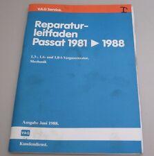 Werkstatthandbuch VW Passat 32B B2 1,3 1,6 1,8 Liter Vergaser Motor 1981 - 1988