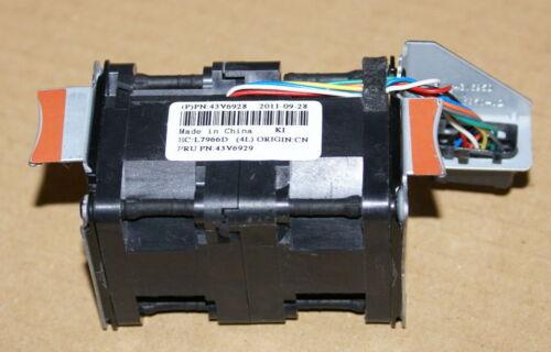 Lot of 6 IBM X3550 M2 M3 Cooling Fan Nidec R40W12BS2CA-57A05 43V6928 43V6929