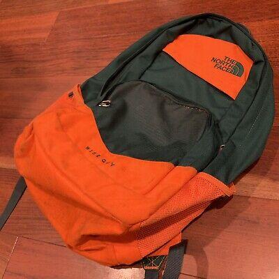 Vtg North Face Wise Guy Backpack Orange Green Florida