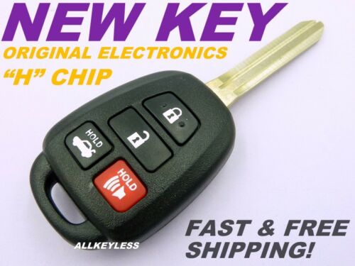 OEM TOYOTA CAMRY keyless entry remote fob HYQ12BDM H chip NEW CASE W// UNCUT KEY